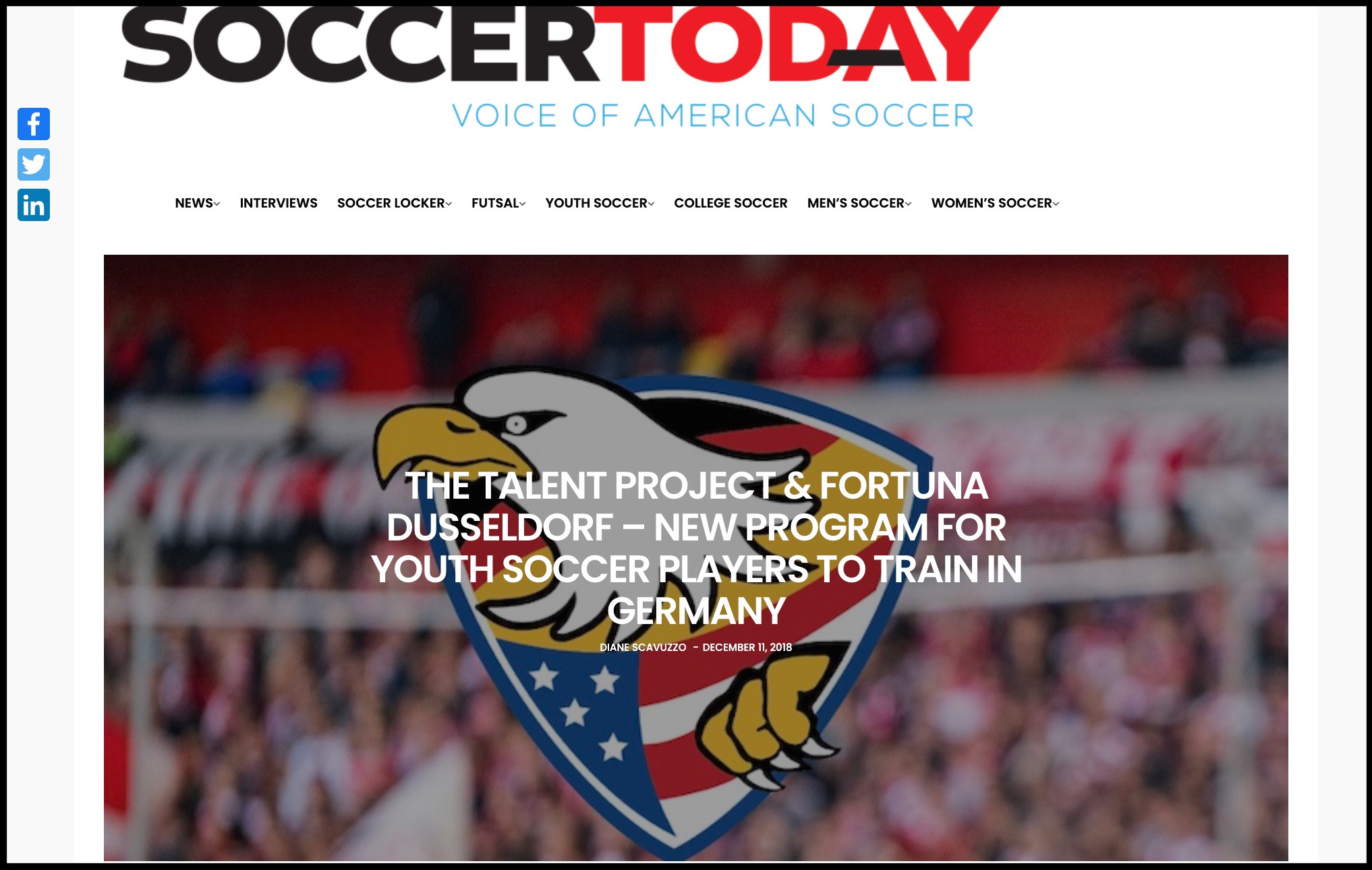 Soccer Today Article Dec 2018